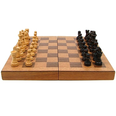 Trademark Games™ Wooden Book Style Chess Board With Staunton Chessmen