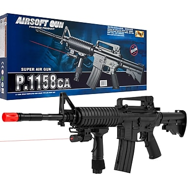 Cyma Airsoft Rifle With Targeting Laser, Black
