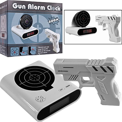 Trademark Games™ Gun & Target Recordable Alarm Clock