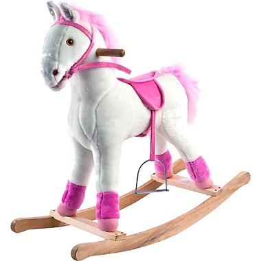 Happy Trails™ Plush Rocking Patricia Pony, White/Pink