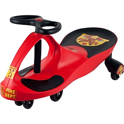Lil' Rider Rescue Firefighter Wiggle Ride-on Car, Red