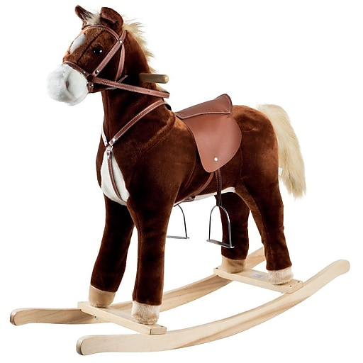 Happy Trails™ Plush Rocking Horse, Brown
