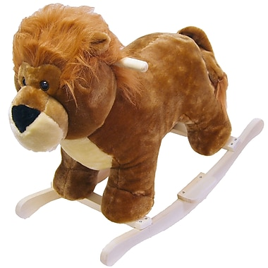 Happy Trails™ Plush Rocking Lion, Brown
