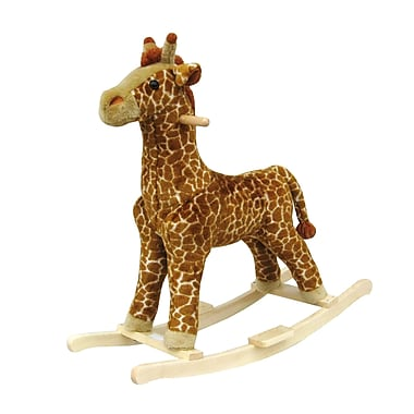 Happy Trails™ Plush Rocking Giraffe, Brown/Yellow