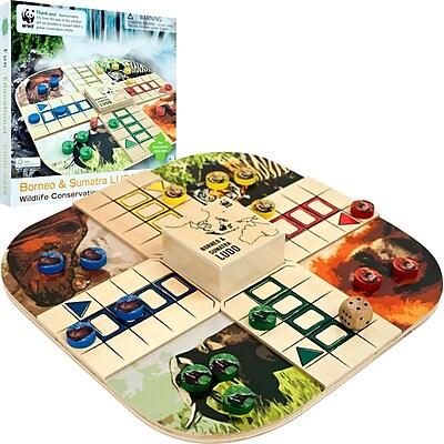 WWF Zoo Animals Ludo Wood Board Game