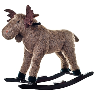 Happy Trails™ Plush Rocking Max Moose, Brown/Black