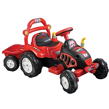Lil' Rider™ The King Tractor & Trailer, Red/Yellow