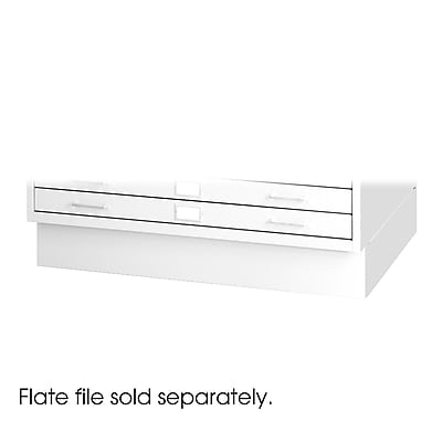 Safco® Closed Base For 4998 Flat File, White