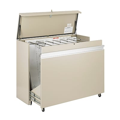 Safco MasterFile 1 Drawer Vertical File, Putty/Beige,Specialty, 56''W (5025AH)