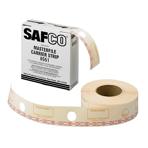 Safco® Graphic Arts Film Laminate Carrier Strip for MasterFile 2, Cream (6551)