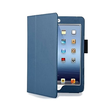 GameFitz 93580857M PU Leather Folio Case for Apple iPad Mini Tablet, Dark Blue