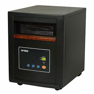 Optimus H-8011 1500 W Quartz Infrared Heater With Remote; Black