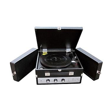 Pyle® PLTTB8UI Classical Turntable W/PC Encoding/iPod Player/Aux Input & Dual Speaker, 33/45/78 RPM
