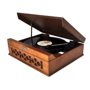 Pyle® PVNTT6UMT Vintage Style Phonograph/Turntable With USB To PC Connection, 33/45/72 RPM