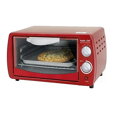 Better Chef® 9 Liter Four Slice Toaster Oven, Classic Red