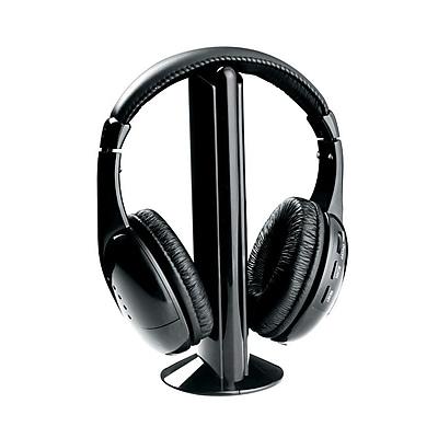 Naxa Professional NE-922A 5 In 1 Wireless On-Ear Headphone with Mic, Black