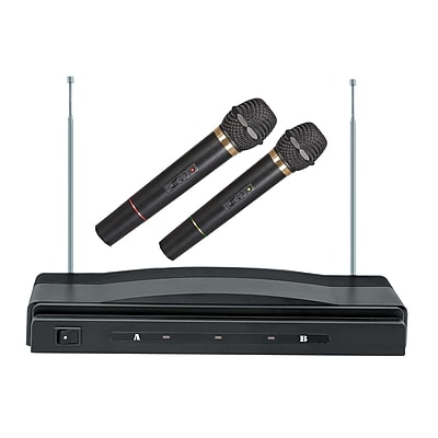 Supersonic SC-900 Professional Wireless Dual Microphone System, Black
