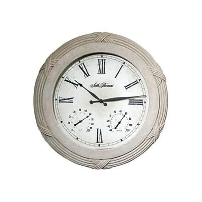 Seth Thomas WWH009179 Polyfiber Solar Clock, White