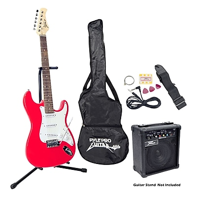 Pyle® Beginner Electric Guitar Package, Red