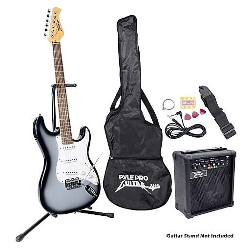 Pyle® Beginner Electric Guitar Package, Black