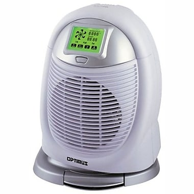 Optimus H-1410 Digital Oscillating Fan Heater With Touchscreen Control