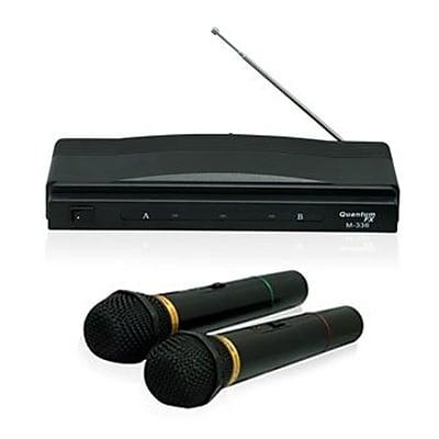 QFX M-336 Wireless Handheld Microphone, Black