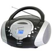Supersonic® SC-508 Portable Telescopic Antenna Audio System MP3/CD Player With AM/FM Radio, Black