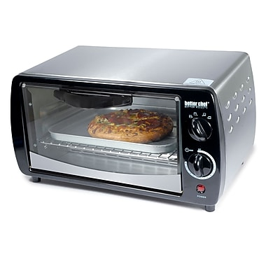 Better Chef® 9 Liter Four Slice Large Capacity Toaster Oven, Silver