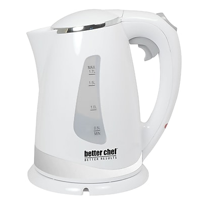 Better Chef® 1.7 Liter Cordless Electric Kettle With Stainless Steel Accent, White