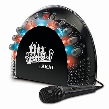 Akai KS-201 2 x 1 W Portable Front Load CD+G Karaoke AM/FM Radio Player With Light Effects