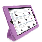 GameFitz 93577295M Tri Fold Folio Case for Apple iPad Tablet, Purple