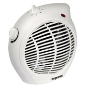 Impress IM-701 1500 W Compact Fan Heater With Adjustable Thermostat, White