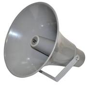 "Pyle® PHSP131T 50 W 13 1/2"" Indoor/Outdoor PA Horn Speaker W/70 V Transformer, Grey"