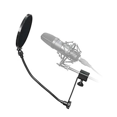 Technical Pro MKPF1 Clamp on Microphone Pop Filter , Black