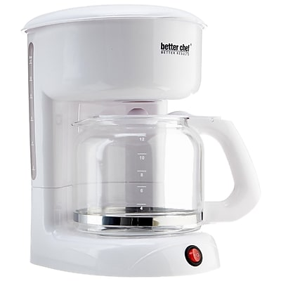 Better Chef 12 Cup Coffee Maker, White 283068