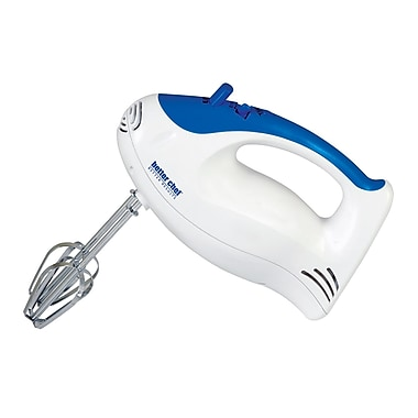 Better Chef® 5 Speed Turbo Hand Mixer, White/Blue
