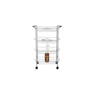 Better Chef SR-4 4 Tier Storage Cart, Chrome 283091