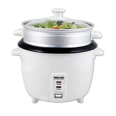 Better Chef® 5 Cup (10 Cups Cooked) Rice Cooker With Food Steamer Attachment
