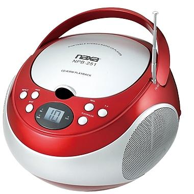 Naxa® NPB-251 Portable CD Player With AM/FM Stereo Radio, Red