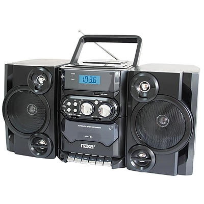 Naxa® NPB-428 Portable MP3/CD Player With AM/FM Stereo Radio Cassette Player/Recorder