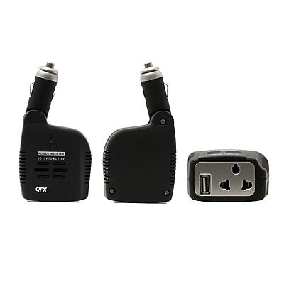 QFX 0.61 lbs 75 W Inverter With USB, Black