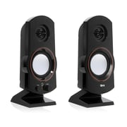 QFX CS-60 2.0 USB Speaker, Black
