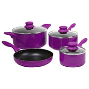 Gibson Colorsplash® Branston Nonstick Aluminum Cookware, 7 Piece Set, Purple
