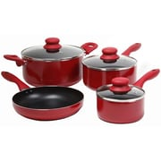 Gibson Colorsplash® Branston Nonstick Aluminum Cookware, 7 Piece Set, Red