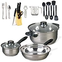Gibson Lybra Cookware 32 Piece Combo Set Deals