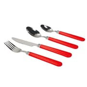 Gibson Sensations II Plastic Handle Flatware Set, 16 Piece, Red