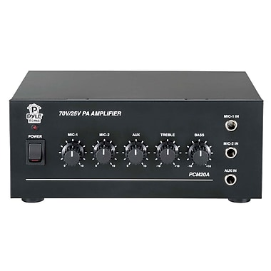 Pyle® PCM20A 40 W Power Amplifier With 25 and 70 Volt Output