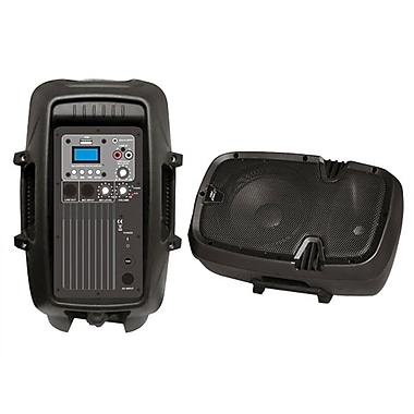 Pyle® PPHP803MU 8in. 600 W Powered Two Way PA Speaker With MP3/USB/3.5 mm Input