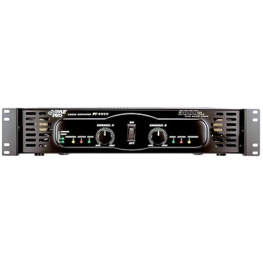 Pyle® PT6800 3000 W x 2 Bridgeable Power Amplifier