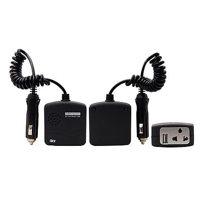 QFX 0.70 lbs 75 W Inverter With USB, Black